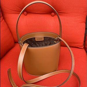 staud leather bag